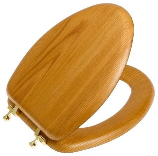 Toilet Seat Elongated Natural Oak Modern Toilet Seats