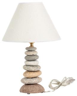 mini coastal rock lamp beach style table lamps by