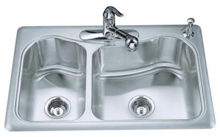 Kohler Staccato Sink : KOHLER K-3361-1-NA Staccato Large/Medium Top-Mount, Self-Rimming ...