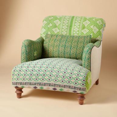 One of a kind benazir sari armchair eclectic armchairs for Sari furniture designer