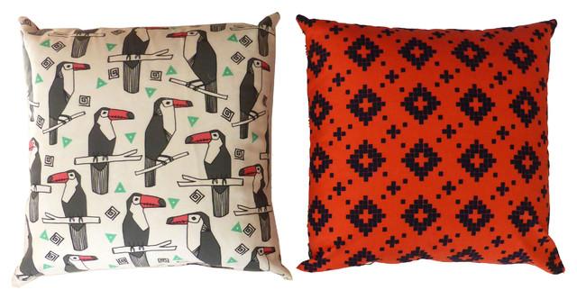 coussin toucan contemporain coussin other metro par la chamelle. Black Bedroom Furniture Sets. Home Design Ideas