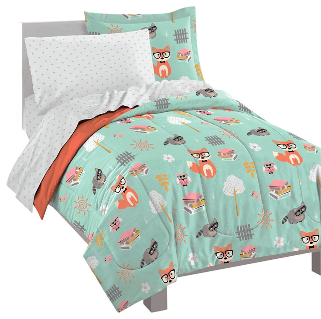 Woodland Friends Ultra Soft Microfiber Twin Comforter Set