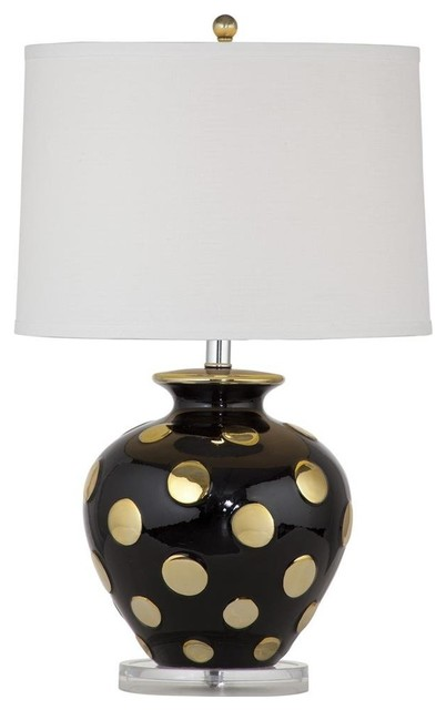 hoxton black and gold ceramic table lamp table lamps by fratantoni. Black Bedroom Furniture Sets. Home Design Ideas
