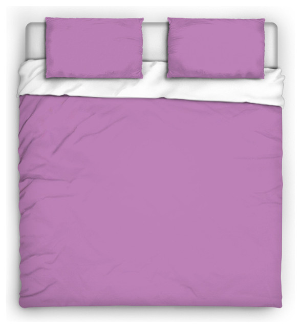 Light Purple Solid Color Microfleecce Twin Comforter ...