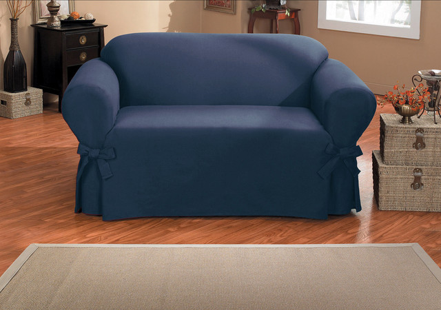 Duck One Piece Relaxed Fit Sofa Slipcover With Arm Ties