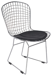 Modern metal dining side chair black midcentury dining chairs