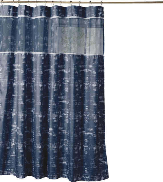 Kensie Ella Shower Curtain Navy Blue Eclectic Shower Curtains By Duck