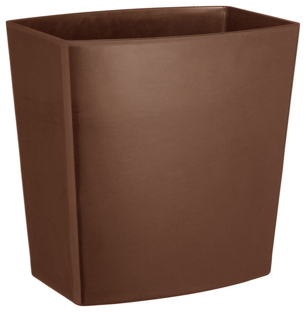 12 in wastebasket in chocolate contemporary wastebaskets by shopladder - Modern wastebasket ...