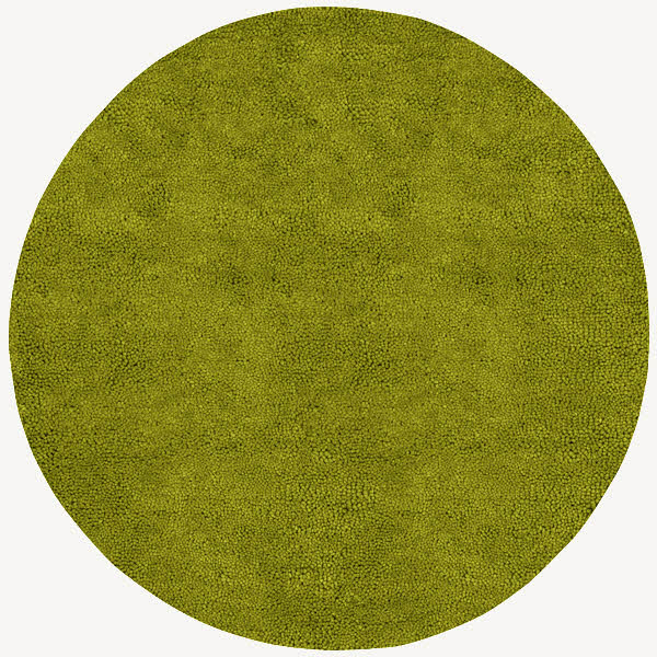 Lime Green Outdoor Area Rug: Aros Lime Green Round Shag Rug
