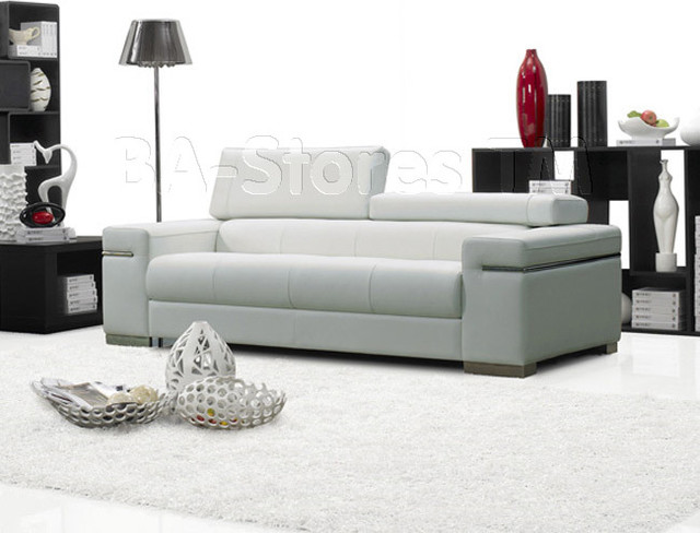 Soho Italian Leather White Sofa Contemporary Sofas New York By Modern