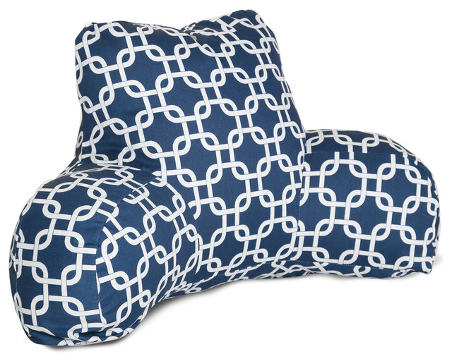 Outdoor Links Reading Pillow Navy Blue Contemporary