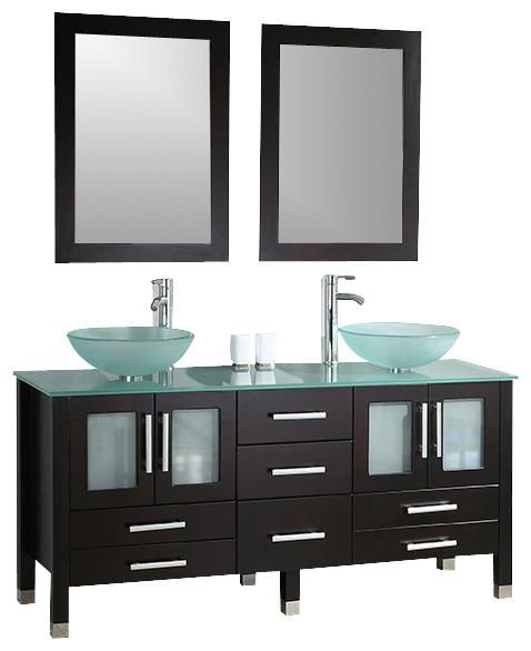 Double 71 In Vanity With Vessel Sinks