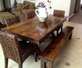 6ft Trestle Dining Table Farmhouse Dining Tables