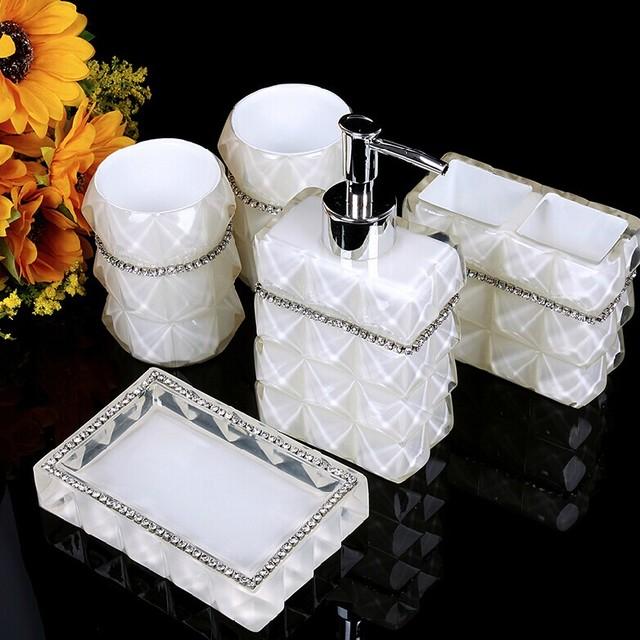 Home Decor Bathroom Accessory : Home decor resin bathroom sets accessories bat