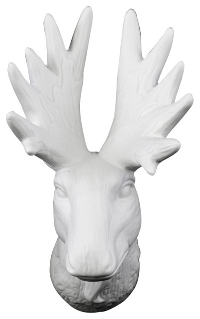 porcelain deer head wall decor contemporary wall sculptures by