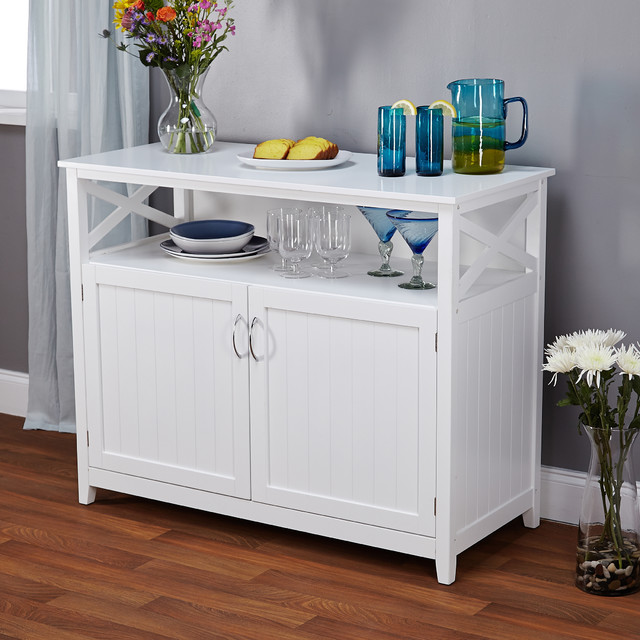 Simple Living Southport White Beadboard Buffet - Contemporary - Buffets And Sideboards - by ...