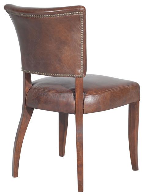 Mimi Dining Chair-Biker Tan/Antique Oak - Dining Chairs - by Custom Furniture World