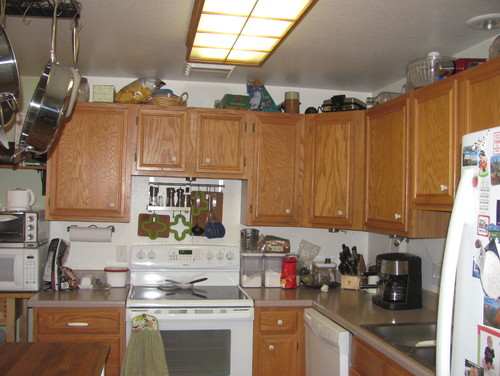 Need color scheme ideas for townhome kitchen resale for Best color for kitchen cabinets for resale