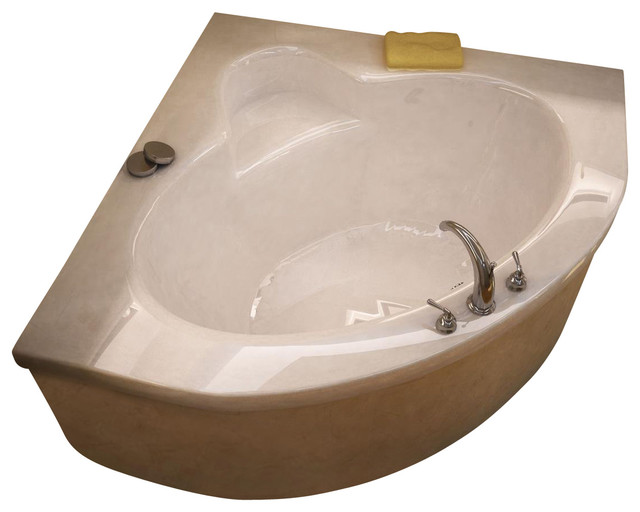Corner bathroom vanity bathroom vanities bath kitchen and beyond - Atlantis Tubs 6060a Alexandria 60x60x23 Inch Corner