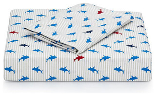 Tommy Hilfiger Shark Attack 3 Piece Sheet Set Modern