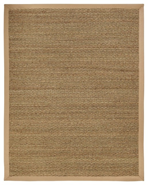 natural fiber seagrass 9 39 x12 39 rectangle beige area rug beach style area rugs by rugpal. Black Bedroom Furniture Sets. Home Design Ideas