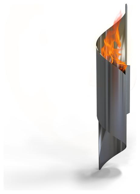 Nuvo wall mounted bio ethanol indoor outdoor fireburner for Luminaire exterieur contemporain