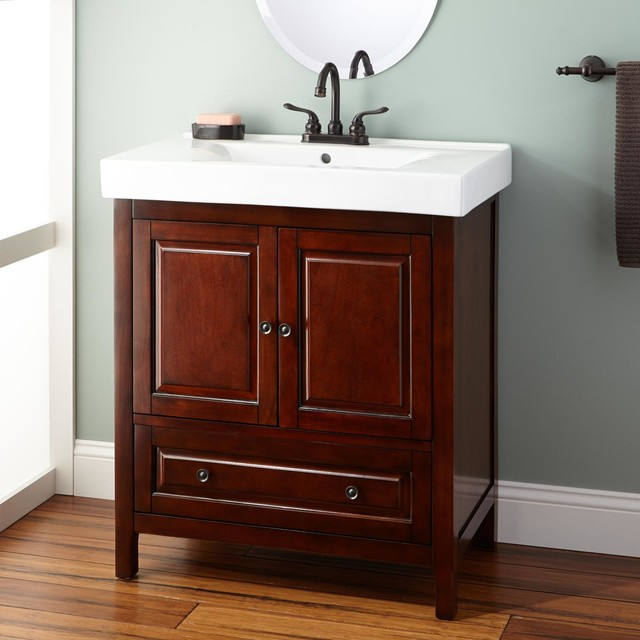 Fantastic  Hudson Double 61Inch Transitional Bathroom Vanity Set  Espresso
