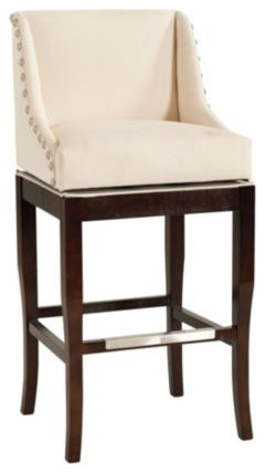 Marcello Barstool With Pewter Nailhead Trim Contemporary