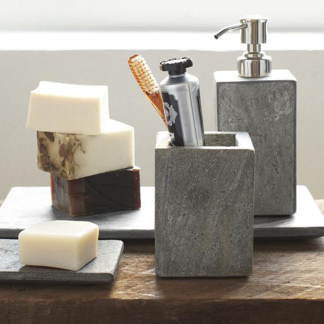 Slate Bath Accessories - Contemporary - Bath & Spa ...