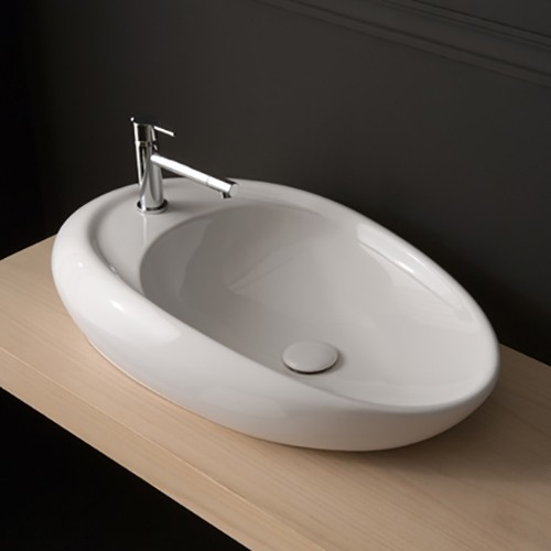 Modern Vessel Sinks : Moai Vessel Sink 8602 - Modern - Bathroom Sinks