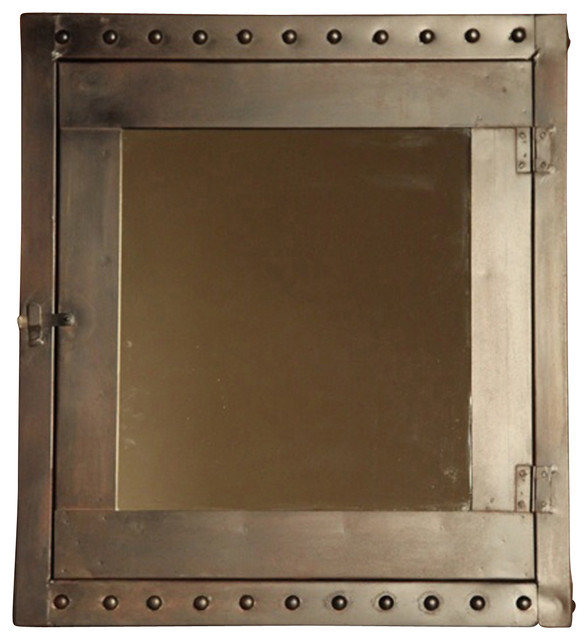 Rivet Medicine Cabinet - Industrial - Medicine Cabinets - by BoBo Intriguing Objects