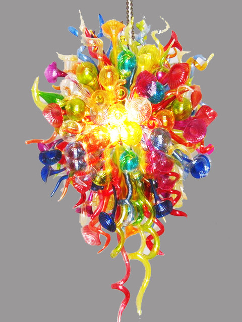 modern handmade colorful glass chandelier contemporary