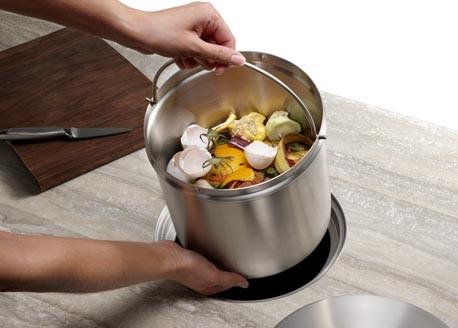 Blanco solontm compost system modern komposteimer von for Komposteimer küche