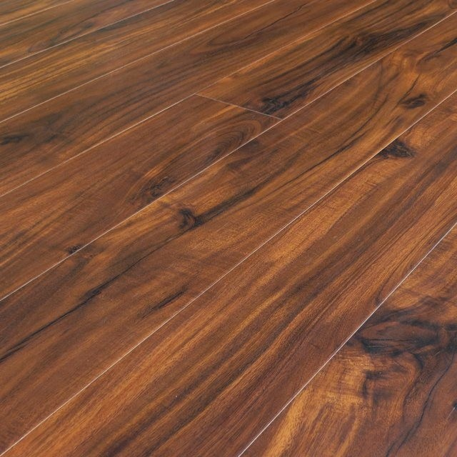Asian walnut acacia hand scraped laminate click lock for Traditional flooring