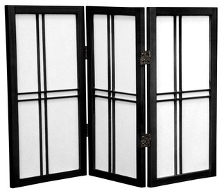screen black 3 panels contemporary screens and room dividers