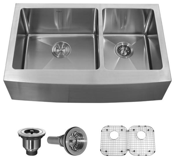 Kraus Sinks Uk : ... Double Bowl 16 gauge Stainless Steel Kitchen Sink modern-kitchen-sinks