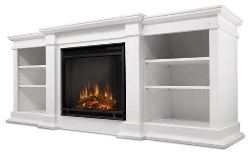 Real Flame Fresno Electric Fireplace White G1200e W Indoor Fireplaces Other Metro By