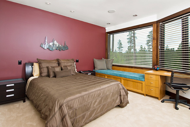 Mountain contemporary contemporary bedroom other for Mountain modern bedroom