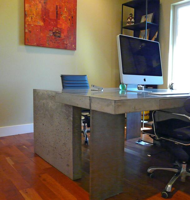 Concrete Top Vanity Desk : Concrete interlocking desks modern salt lake city by