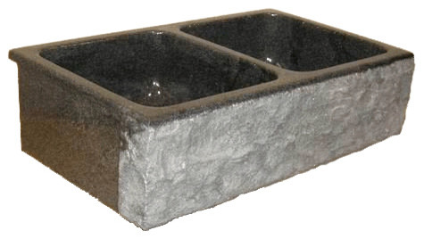 ... Bowl Granite Farm Basin With Chiseled Apron, 33