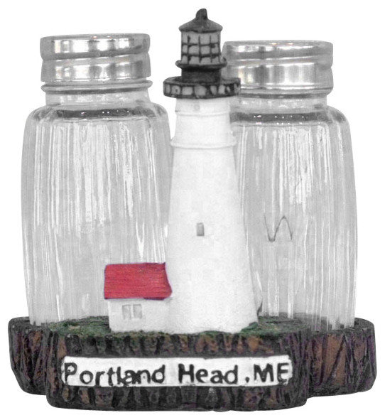 Portland Head Salt And Pepper Shaker Decorative, Set of 2, 4 u0026quot;   Beach Style   Salt And Pepper
