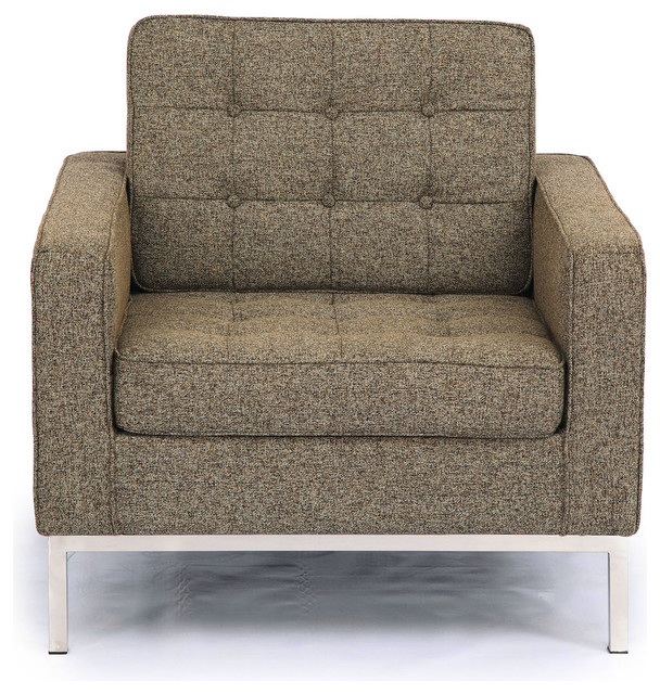 Chair oatmeal houndstooth twill modern armchairs and accent chairs