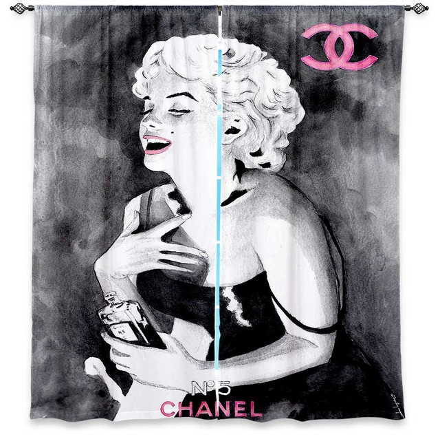 ... Curtains by Marley Ungaro Marilyn Monroe V - Modern - Curtains - by