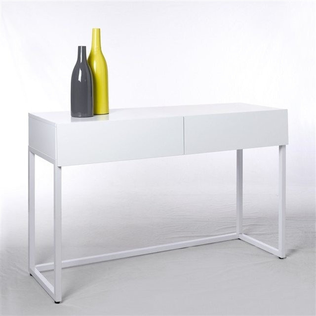 Console bureau 2 tailles newark contemporain meuble for Meuble bureau contemporain