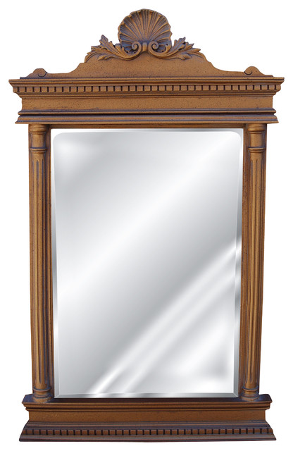 Cicero Mirror Antique Gold Traditional Wall Mirrors