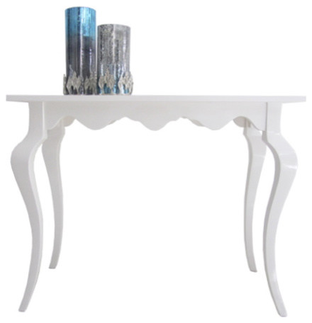 White high gloss console table modern console tables for Modern white lacquer console table
