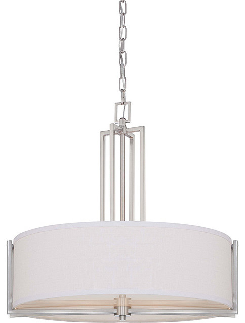 Gemini Brushed Nickel 4 Light Pendant