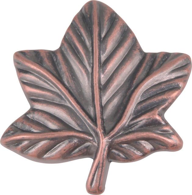Atlas Homewares 2203-C 1-3/4-Inch Leaf Knob in Copper ...