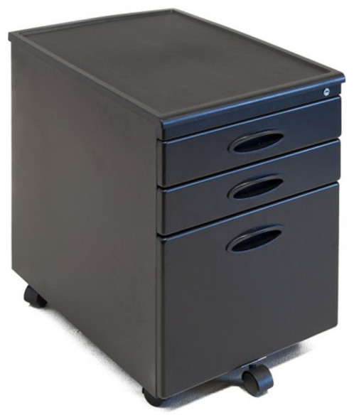 Locking File Cabinet, Black - Filing Cabinets - by Harvey & Haley