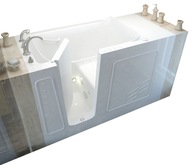 Meditub 30x60 Left Drain White Whirlpool And Air Jetted